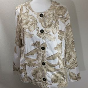Additions by Chico's Jacket Long Sleeve Size 3
